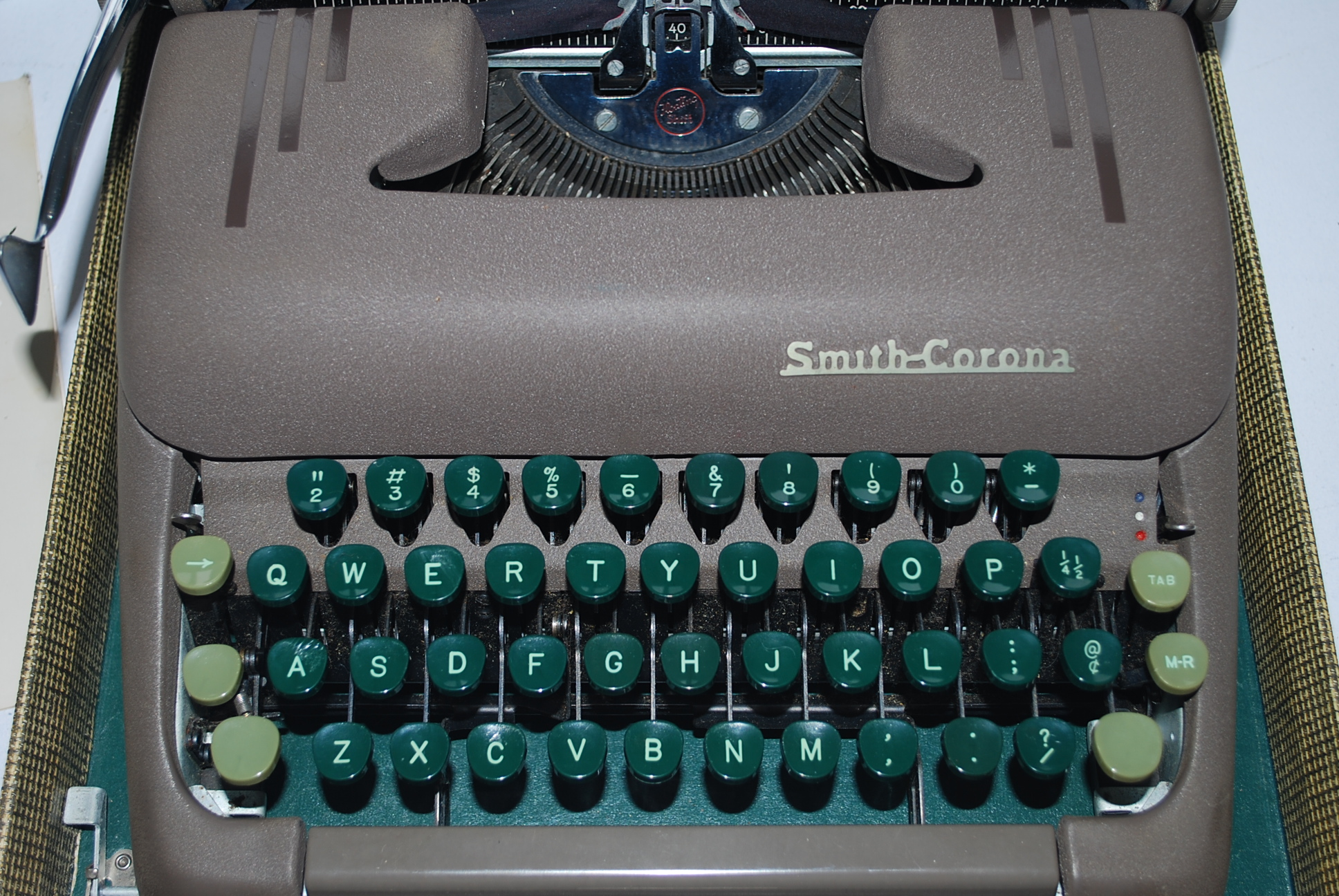 Vintage smith corona typewriters, naked girls in front of class